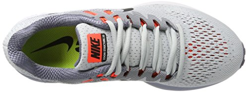 Nike Air Zoom Structure 20, Chaussures de Running Homme Argent (Pure Gris Platinum/Black-Light Carbon-Total Rouge Crimson)