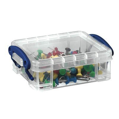 Really Useful Boxes 0.3 Litre Rectangle Really Useful Box Clear