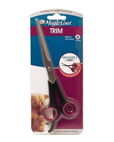 Four Paws Magic Coat Trim Dog Grooming Shears Rounded Tips Non Slip Grips 7.5in