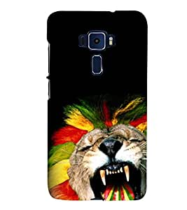 animated glowing tiger face 3D Hard Polycarbonate Designer Back Case Cover for Asus Zenfone 3 Deluxe ZS570KL::Asus Zenfone 3 Deluxe (5.7 INCHES)