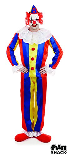 Scary Circus Clown Men's Costume Adult Halloween Fancy (Circus Dress Fancy)