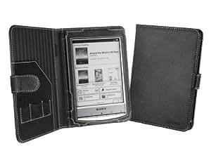 Cover-Up Étui Housse en Cuir pour Sony Reader PRS-T1 / PRS-T2 Liseuse (Style Livre) - Noir