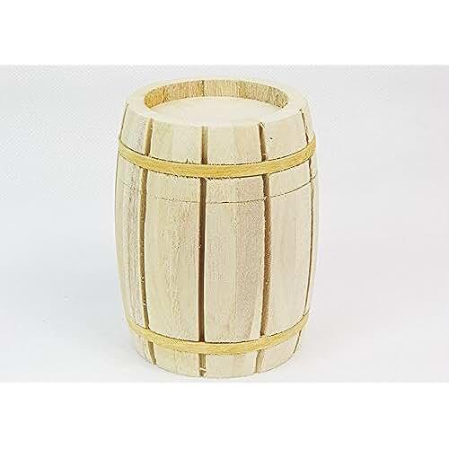 ideas regalos para comuniones kawaii Barril Madera Desmontable calamitato d.8x H.10cm para cajas Primavera Pascua