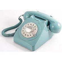 Teléfono Vintage con cadrant giratorio, azul