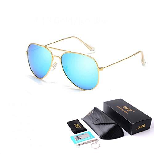Retro Polarisierte Männer Sonnenbrille Metallrahmen UV Schutz Staubdicht Gläser Blockieren Schädliche Strahlen Verwenden für Outdoor Fahren Camping Angeln Strand Freizeit