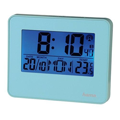 Hama Funkwecker RC 650 (2 Weckzeiten, Hintergrundbeleuchtung und Schlummerfunktion per...