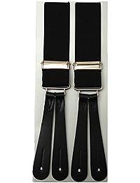 Black Leather End Braces