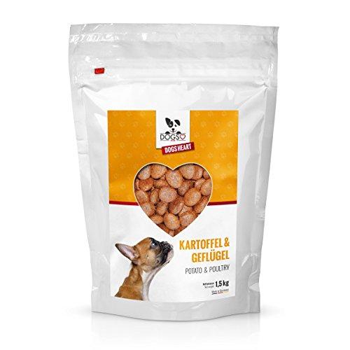Dogs-Heart Geflügel & Kartoffel 1,5kg   mit hohem Fleischanteil   getreidefreies und hypoallergenes Hunde-Trocken-Futter