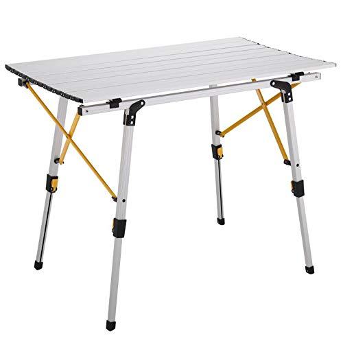 CHENGGUO Table de Gril levable portative de Pique-Nique, Table Pliante extérieure en Aluminium, Table Pliante de Camping BBQ, Table Pliante multifonctionnelle