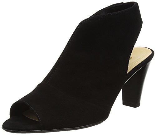 Gabor Range, Sandales Plateforme femme Noir - Black (Black Suede)
