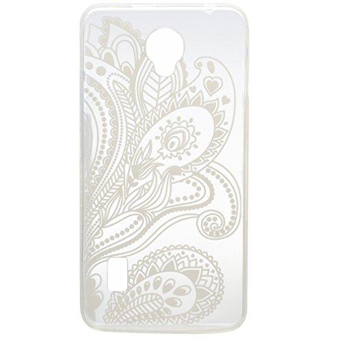 SZHTSWU® Hülle für iPhone 7, Ultra Slim Thin Weiche TPU Ultradünn Soft Silikon Schutzhülle Case Transparent Clear Flexible Rückschale Back Cover Etui Handy Hülle Bumper für Apple iPhone 7, Campanula Lace Morgenruhm