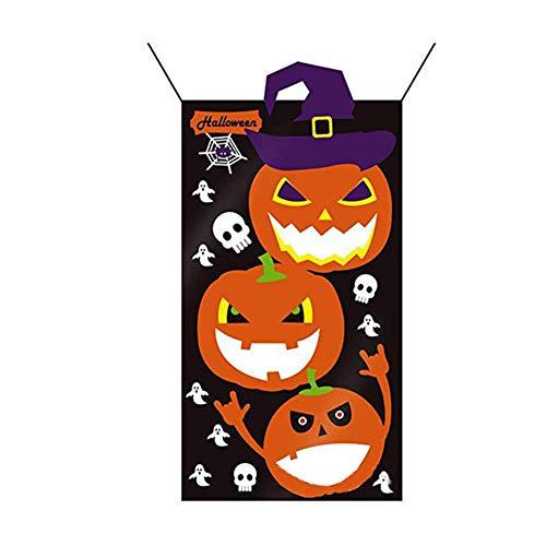 Domire 1 Pc Halloween Hanging Toss Spiel Halloween-Party-Spiele, Indoor Outdoor Wurf Spiele Halloween Zubehör (Kürbis)