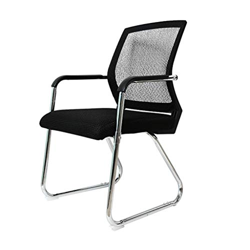 Office Desk Chair, Meeting Chair Visitor Chair with Medium Mesh Back Breathable Foam Pad and Robust Steel Base (Black)