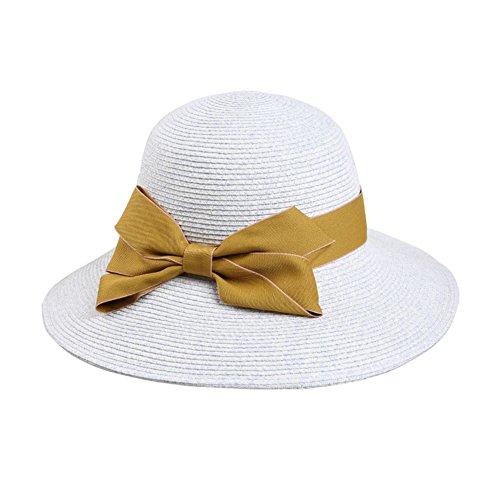Plage d'été Mesdames chapeau/visière/Chapeau de soleil vacances/chapeau de soleil/Chapeau de paille pliable UV A