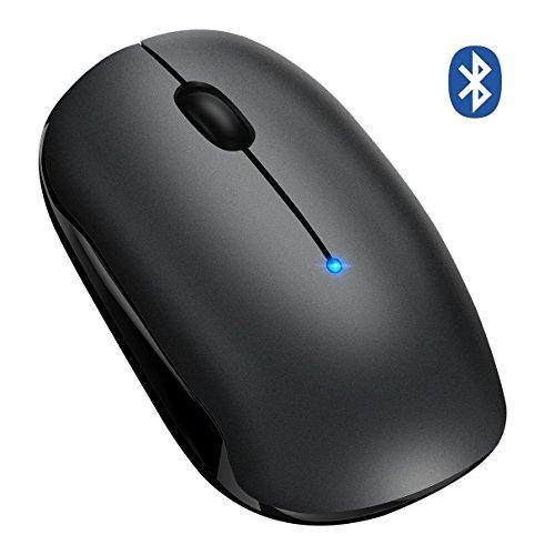 TOPELEK Bluetooth Maus Kabellose Maus,4.0 & 2.4G Wireless Laptop Funkmaus,Optische Drahtlose Business Mini Schnurlos Maus mit Dualmodus,800/1200/1600/2000/2400 verstellbare DPI,PC Maus Bluetooth Mouse für Win OS, Mac OS und Android 4.0 OS.
