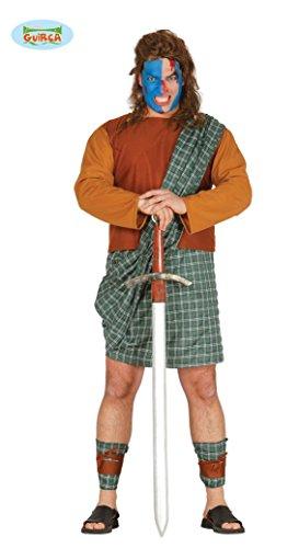 Imagen de disfraz de braveheart escocés talla l