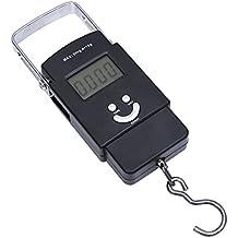lzndeal Portable 110lb / 50kg Electronic Balance Digital Gancho colgante escala con retroiluminación LCD