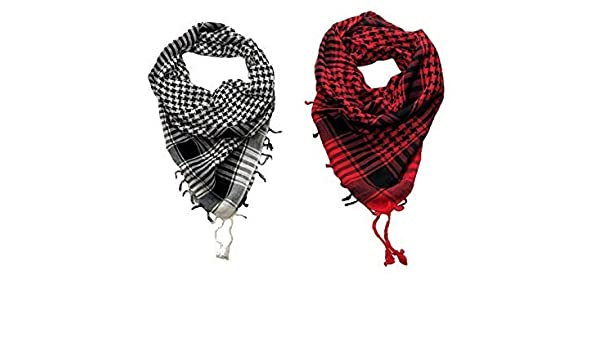 1//6th Scale Shemagh Desert Scarf in White//Black