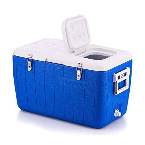 kühlbox Camping Multifunktions-Kunststoff Creative Mit Temperaturanzeige - Haushaltsreiseisolationsbox - Picknick Im Freien - Blau