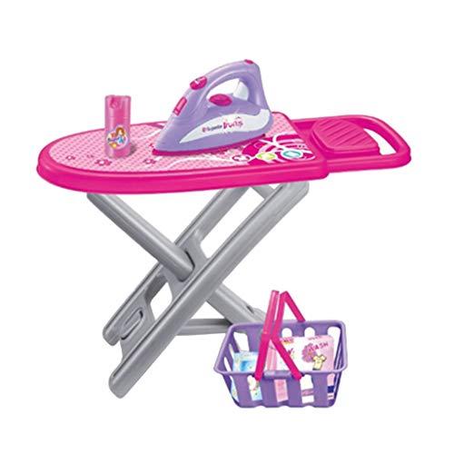 F Fityle Elektrisches Bügeleisen Spielzeug mit Bügelbrett Korb und andere Werkzeug, Geschenk für Kinder