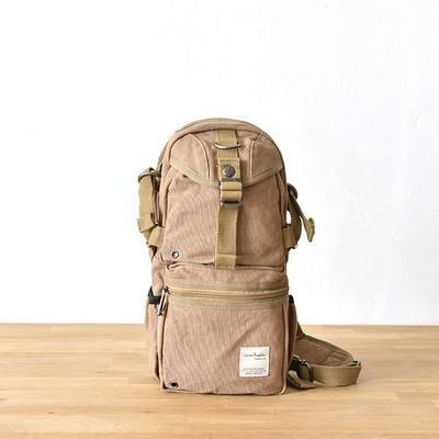 &ZHOU femminile borsa di tela borsa a tracolla grande capacità zaino Messenger Messenger bag di svago di modo 16 * 12 * 36 centimetri , red Brown