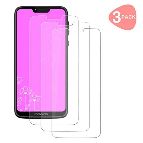 HPPFO [3 Stück] Schutzfolie für Motorola G7 Power, Panzerglas 2.5D [HD Clear] [9H Härte] [Anti-Kratzen] [Blasenfrei] Bildschirmschutzfolie Folie für Moto G7 Power