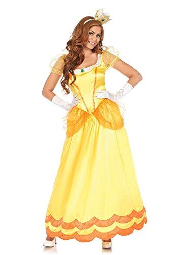 (LEG AVENUE 85559 2 teilig Set Sonnenblumen Prinzessin, Damen Karneval Kostüm Fasching, L, gelb/orange)