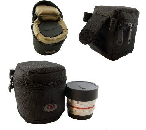 Qualitäts Mini Köcher für Systemkamera Objektive, Konverter usw. - Modell Nr. 1 - 65 mm x 65 mm