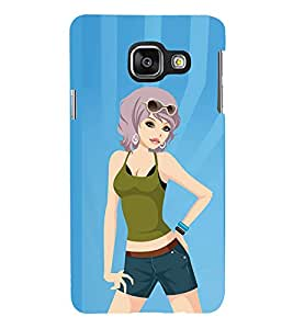 Fiobs Designer Back Case Cover for Samsung Galaxy A5 (6) 2016 :: Samsung Galaxy A5 2016 Duos :: Samsung Galaxy A5 2016 A510F A510M A510Fd A5100 A510Y :: Samsung Galaxy A5 A510 2016 Edition (Fashion Girl Garly Ladki Style)