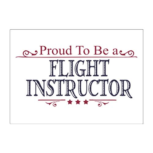 Teeburon Proud to BE a Flight Instructor Aufkleber x4 6
