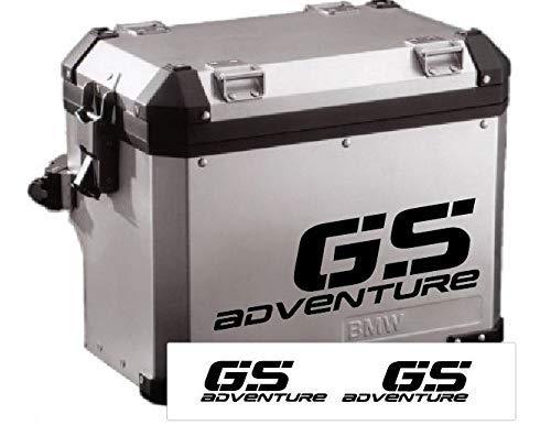 2 Adesivi Stickers Moto R 1200 1150 1100 800 650 gs valigie adventure ARGENTO