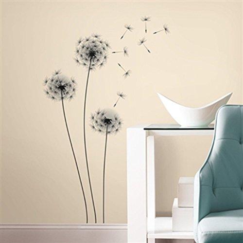 (Bavaria Home Style Collection Hochwertiger Wandtattoo Tattoo Wand Tattoo Pusteblume künstlerisch mit außergewöhnlichem Design Macht die Wand zu einen echten Blickfang)