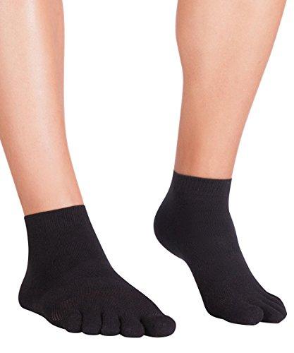Knitido Lauf-Zehensocken MTS Ultralite, Sport-Zehensocken mit Grip, Größe:39-42, Farbe:schwarz