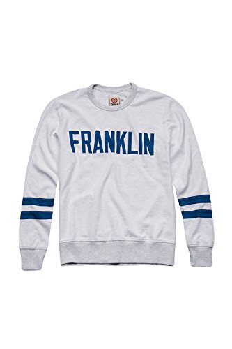Franklin & Marshall - Sweatshirt FLMF103AMS17 für mann, gerippt handgelenke 0397 - LIGHT GREY MELANGE