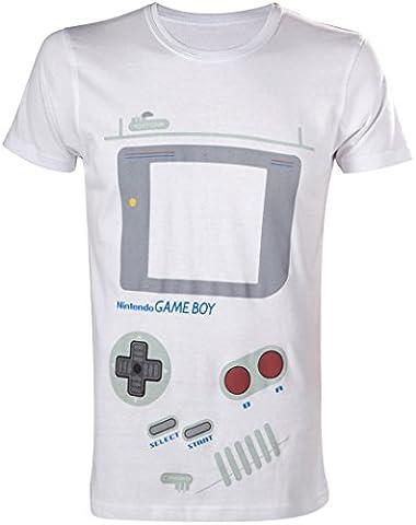 Nintendo Gameboy T-shirt pour homme (Large, Blanc)–Parent