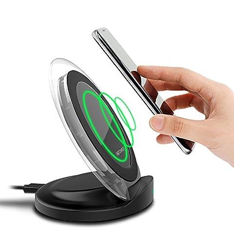 Chargeur sans fil Qi rapide Standard Nouveau modèle d'multifonctionnel vertical