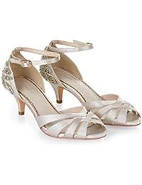 Monsoon Chaussures brodées à petits talons Victoria - Femme