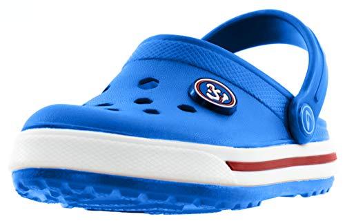 Beppi Kinder Clogs - Kinderschuhe Kleinkinder Schuhe Hellblau Gr. 22