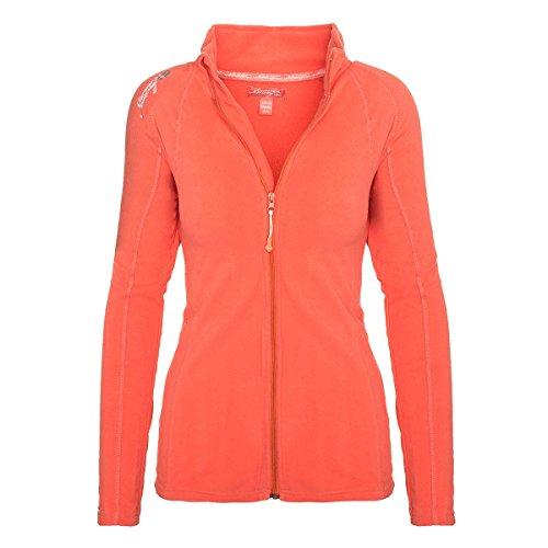 Geographical Norway Damen Fleece Jacke Übergangs Sweatjacke Pullover [GeNo-21-Corail-Gr.XL]