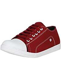 UrbanwhiZ Stylish Blue Green Grey Maroon Red Casual Party Wear Canvas Denim Lace-Up Derby Shoes For Men