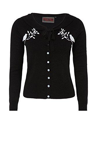 Voodoo Vixen - White Swallow - Cardigan Plus Sizes