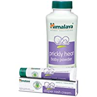 Himalaya Prickly Heat Powder, 200g with Diaper Rash Cream, 20g
