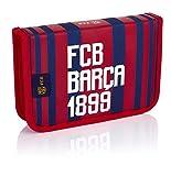 FC Barcelona Jungen Federtasche, 2 Fächern, 1w2 Fc-185 Barca Fan 6 Geldbörse, Mehrfarbig (Multicolour), 4x13,5x20 cm