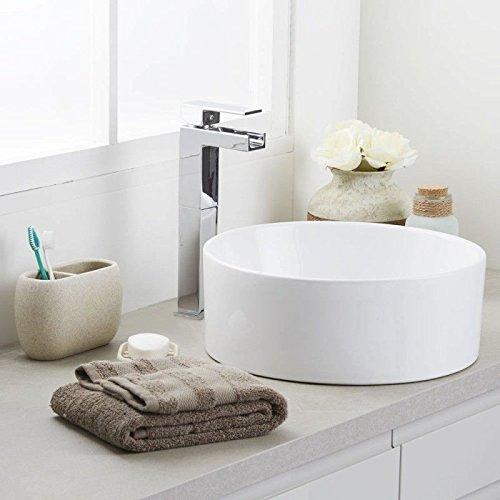 Diseño elegante cuarto de baño encimera lavabo de cerámica (de madera)