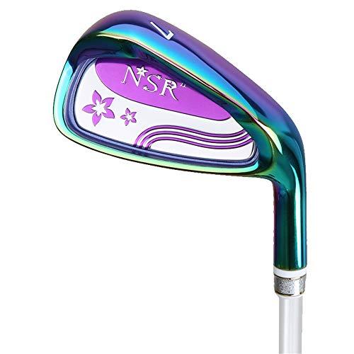 HJJGRASS 7-Eisen-Golfschläger mit Schaft aus Stahl und Graphit für Rechtshänder von PGM Golf Club für Junior- und Profi-Spieler,Purple,carbonbody (Junior Golfschläger Graphit)