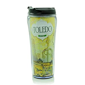 tours a toledo: Silicone Gold Mug Térmico Toledo Tour Abs 450 ML, Acrílico, 6x6x24 cm