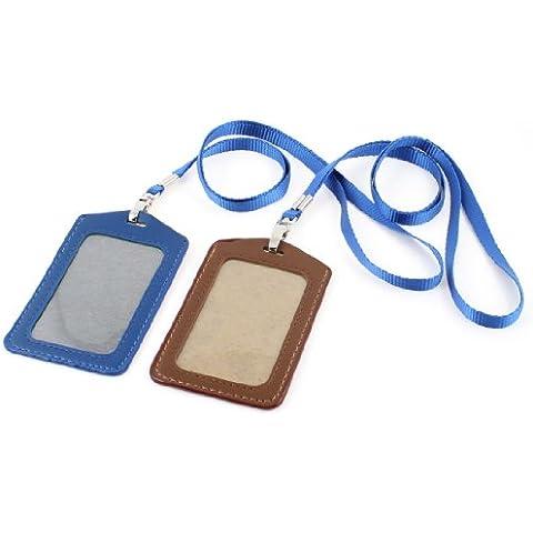 Wark Business 2 in pelle sintetica con porta carte, colore: blu Royal dimensioni Neack tracolla, colore: Marrone