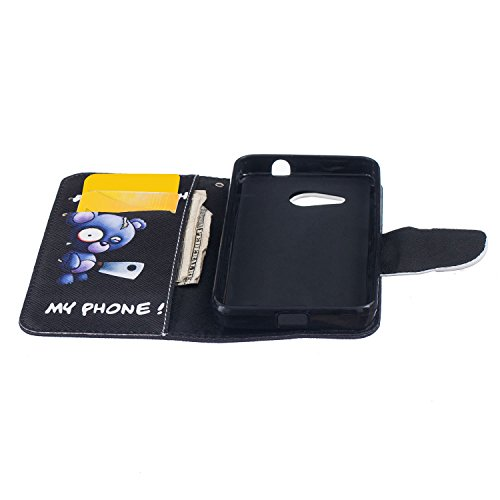 Anfire Plume Motif Peint Mode PU Cuir Étui Coque pour Microsoft Lumia 550 (4.7 pouces) Housse de Protection Luxe Style Livre Pochette Étui Folio Rabat Magnétique Coque Couverture pour Nokia Lumia 550  Do not Touch My Phone