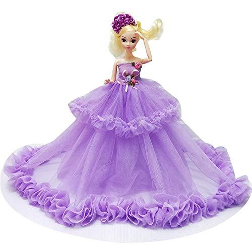 MEMIND 35 cm Große Hochzeitskleid Ausländische Puppe Kleines Mädchen Spielzeug Geschenk Boutique Mode Loli Prinzessin Dress Up Puppe Festival Geburtstag, Purple (Boutique Outfits Mädchen Kleine)