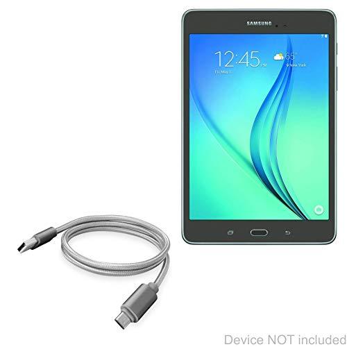 BoxWave Micro-USB-Ladekabel für Samsung Galaxy Tab A 8.0 (2019), Grau -